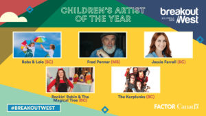 NOMINATED FOR CHILDREN'S ARTIST OF THE YEAR!